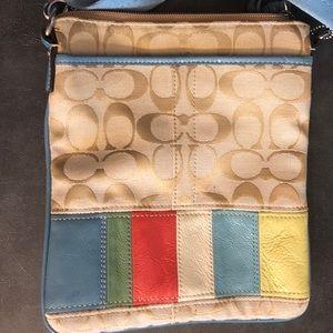 Summer color small crossbody coach bag